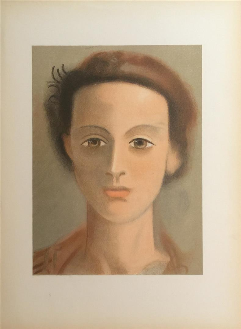 color lithographs derain s portrait of a lady and leger s head and