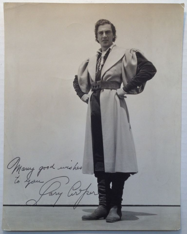 Inscribed Vintage Photograph. Gary COOPER, 1901 - 1961.