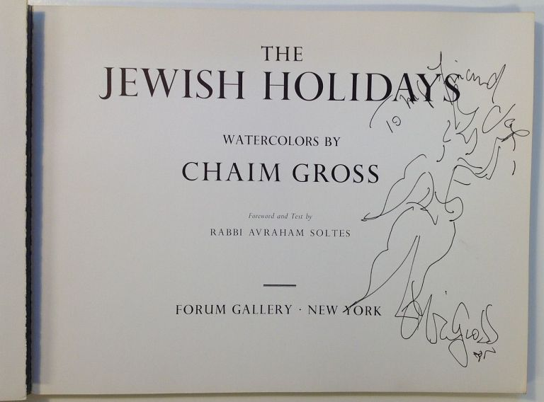 The Jewish Holidays. Chaim GROSS.