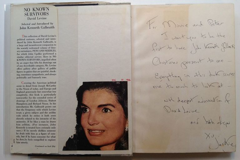 Inscribed Book. Jacqueline KENNEDY.