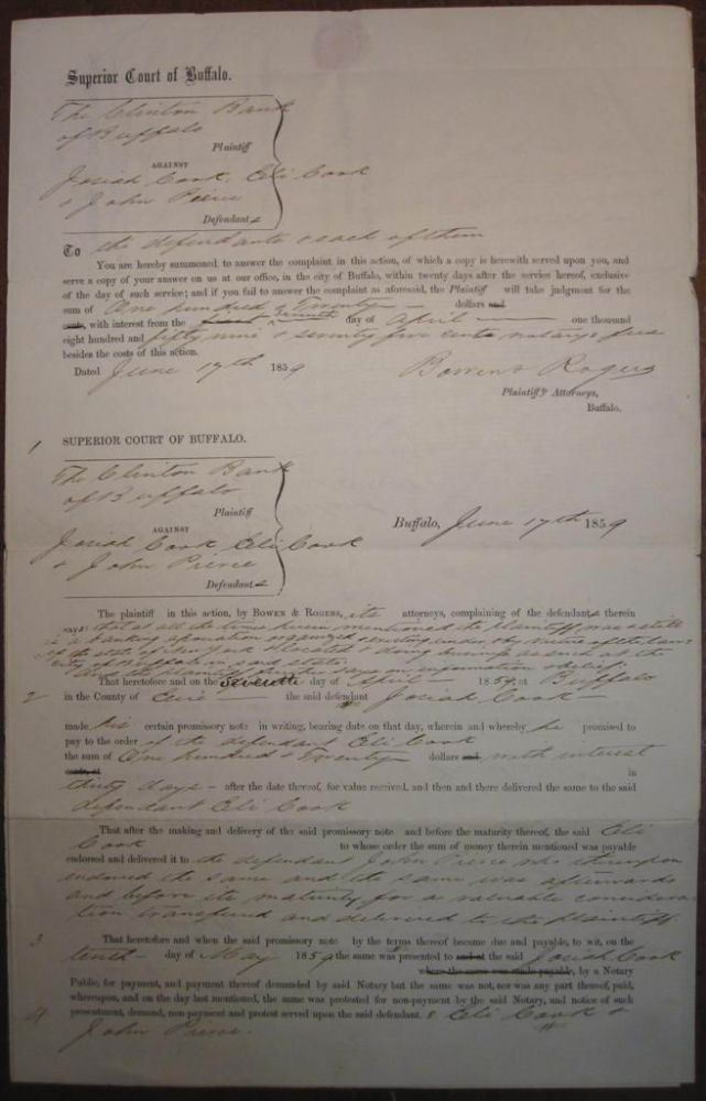 Three Signed Documents from a lawsuit. Grover CLEVELAND, 1837 - 1908.