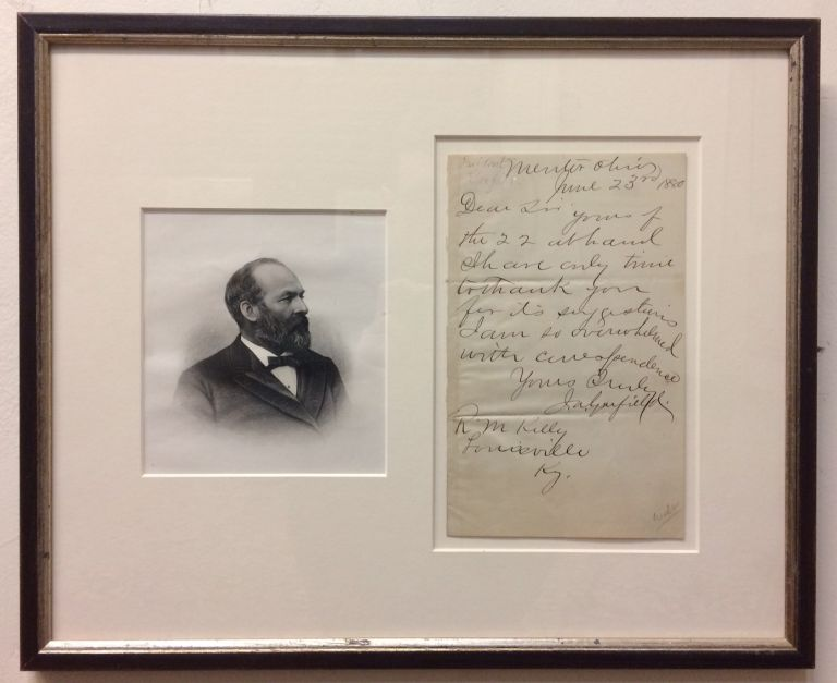Autographed Letter Signed. James A. GARFIELD.