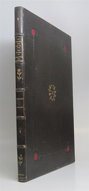 An Almanac of Twelve Sports BOUND WITH A Unique Scrapbook of mounted Kipling Stories AND Song sheet for Fuzzy-Wuzzy. Rudyard KIPLING.