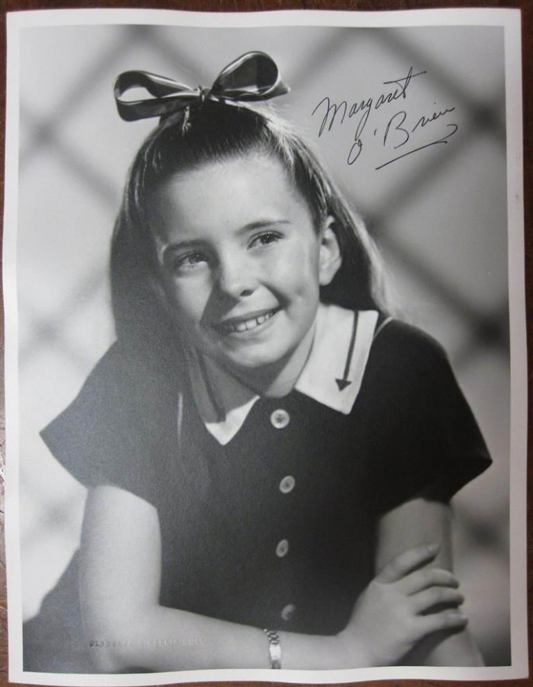 Signed Photograph. Margaret O'BRIEN, 1937 -.