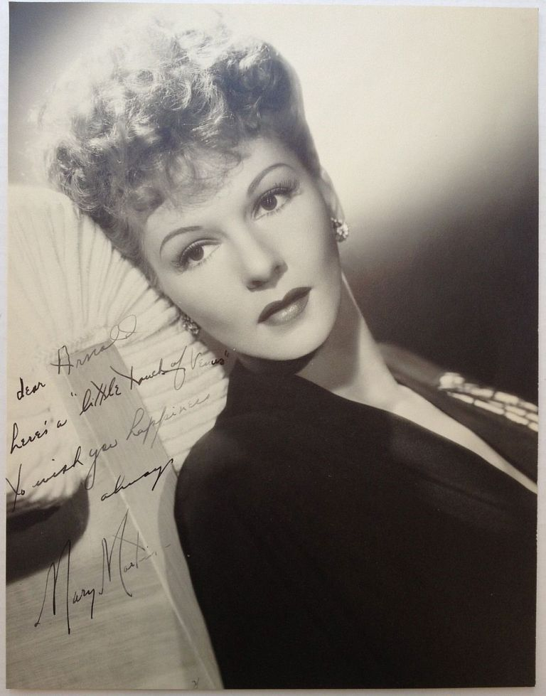Inscribed Photograph. Mary MARTIN, 1913 - 1990.