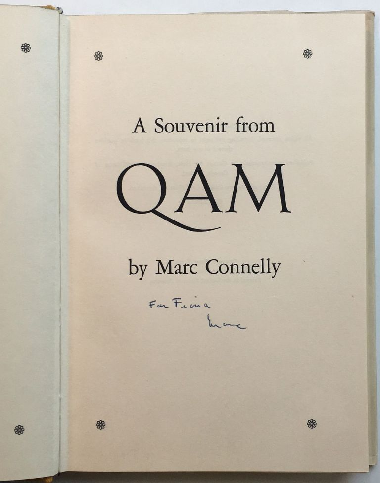 A Souvenir From Qam. Marc CONNELLY.