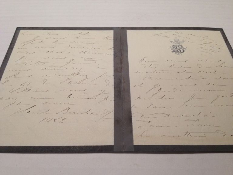 Autographed Letter Signed in French. Sarah BERNHARDT, 1844 - 1923.