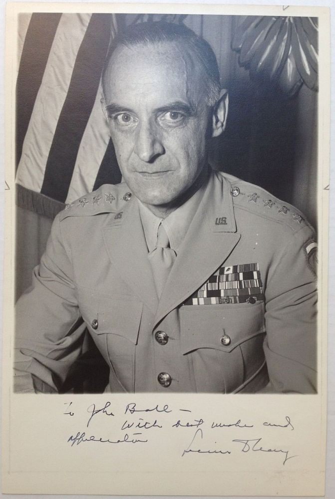Inscribed Photograph. Gen. Lucius D. CLAY, 1898 - 1978.