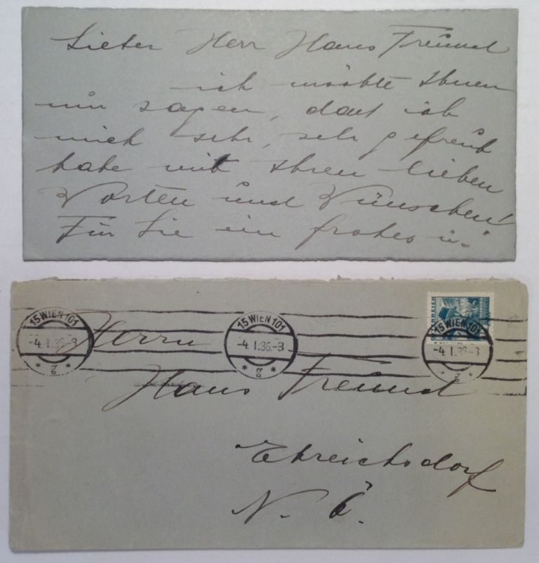 Autograph Letter Signed in German. Karl WESSELY, Dr., 1874 - 1953.