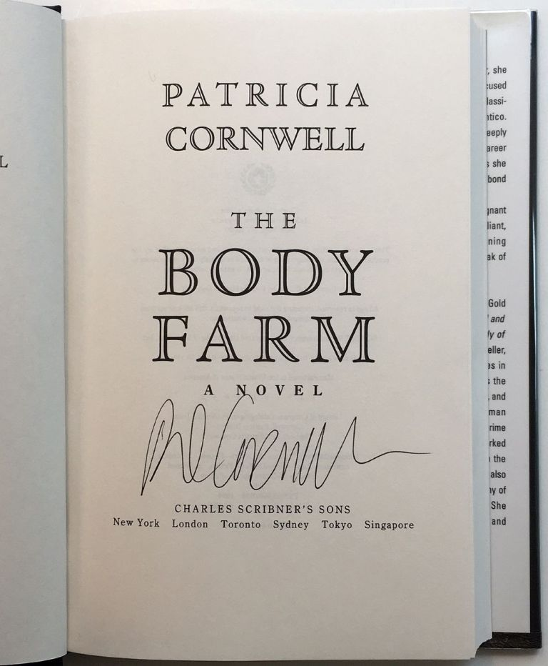 The Body Farm. Patricia CORNWELL.