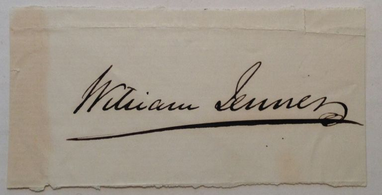 Clipped Signature. Sir William JENNER, 1815 - 1898.