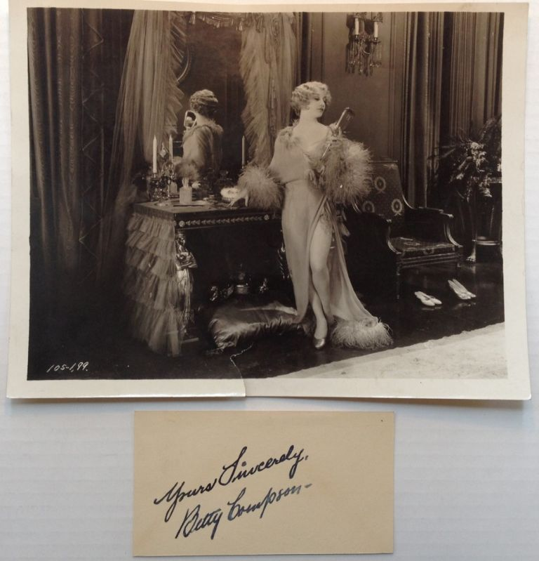 Inscribed Card. Betty COMPSON, 1897 - 1974.