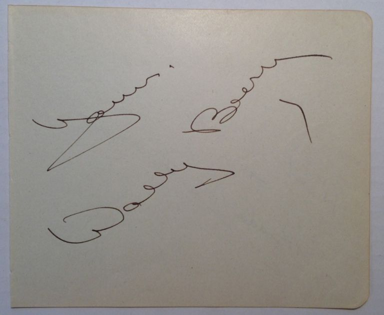 Signed Page from an Autograph Album. Wallace BEERY, Freddie BARTHOLOMEW.