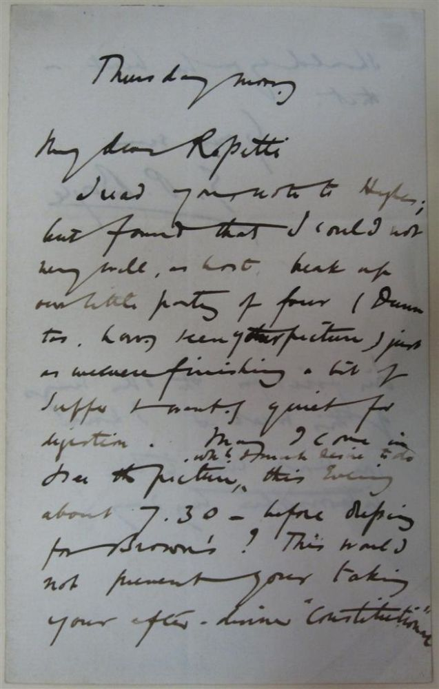 Autographed Letter Signed. George Price BOYCE.