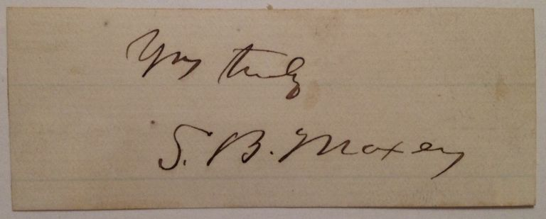 Clipped Signature. Samuel Bell MAXEY, 1825 - 1895.