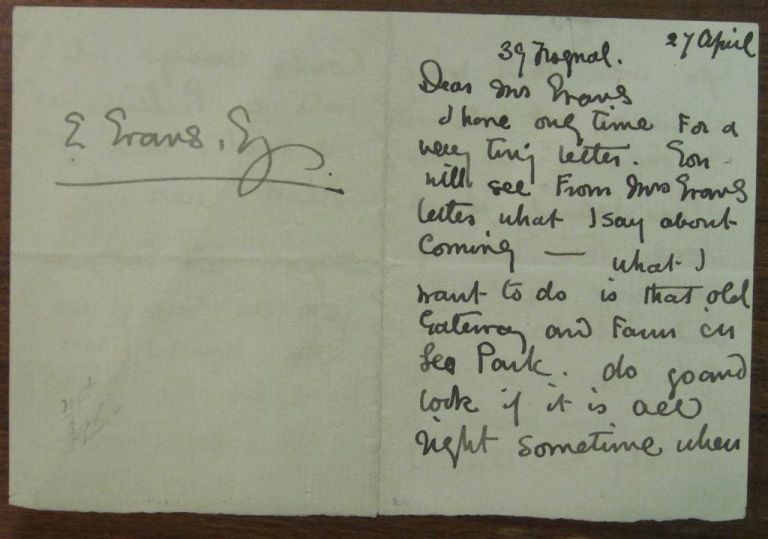 Autographed Letter Signed. Kate GREENAWAY, 1846 - 1901.