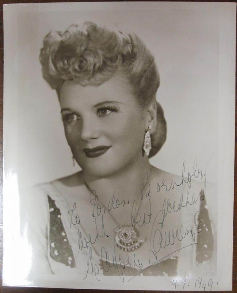 Inscribed Vintage Photograph. Marjorie LAWRENCE, 1907 - 1979.
