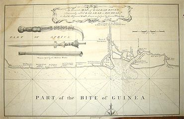An Accurate Map, of Kalbar River, (Commonly called Kalabar or Rio Real,) And Adjacent Coast, drawn on the Spot by Several Pilots 1699. Thomas SALMON.