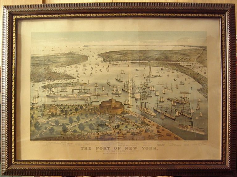 The Port of New York. Birds Eye View from the Battery, Looking South. PARSONS, ATWATER.