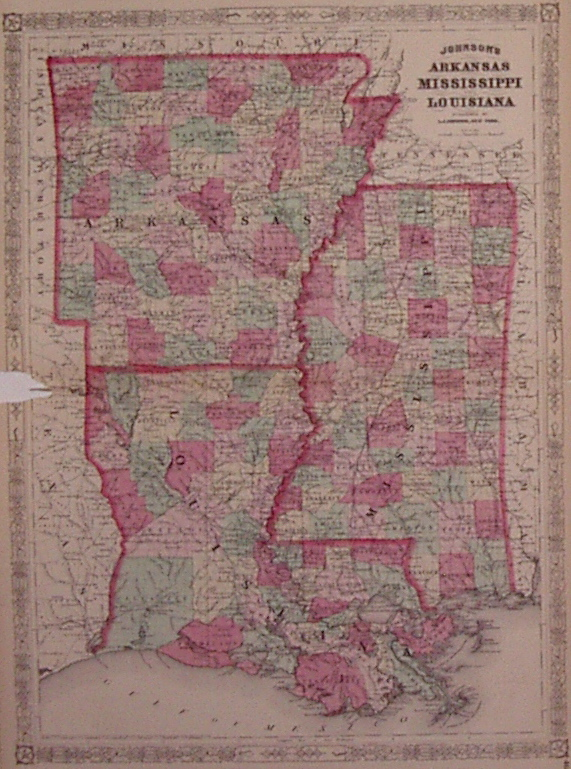 Johnson's Arkansas Mississippi and Louisiana. A. J. JOHNSON.