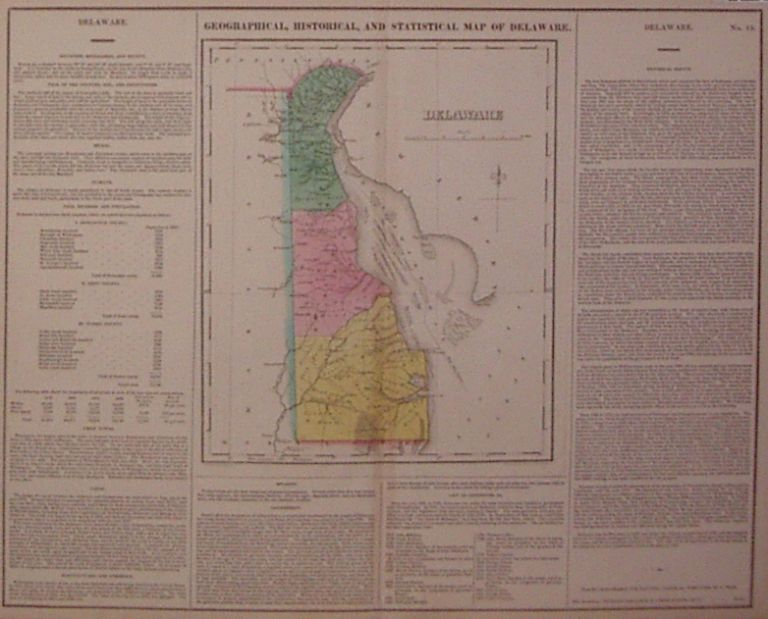 Geographical, Historical and Statistical Map of Delaware. CAREY, LEA.