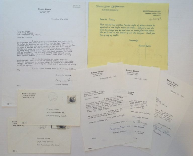 Archive of Four Typed Letters Signed to Proctor Jones. Norman THOMAS, 1884 - 1968.