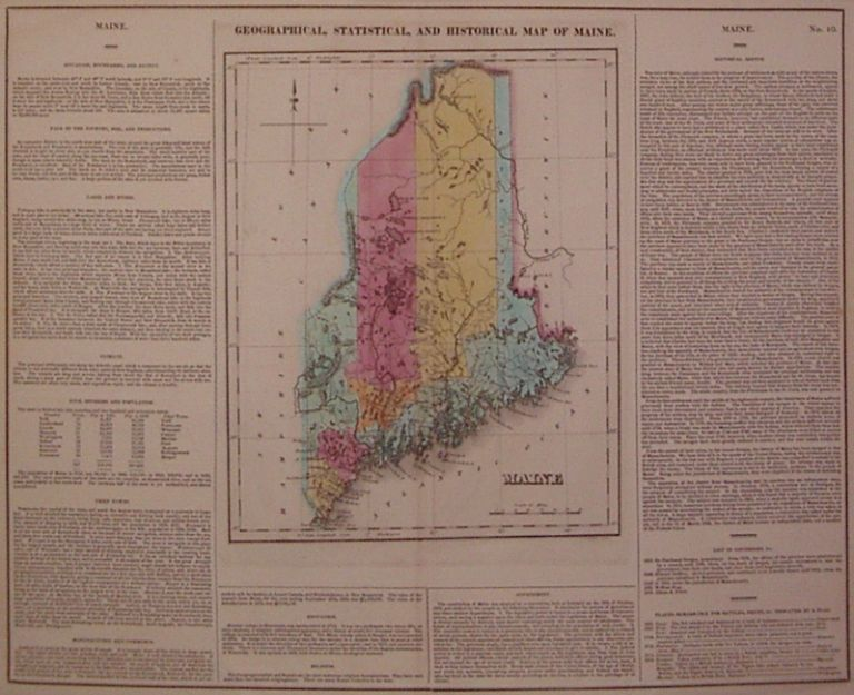 Geographical, Statistical, and Historical Map of Maine. CAREY, LEA.
