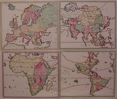Untitled (World Map The Four Continents). HOMANN HEIRS.