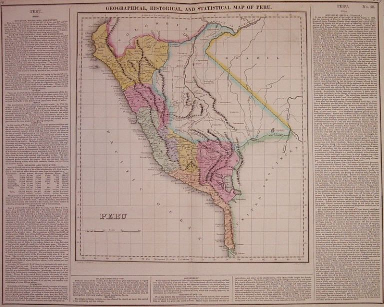 Geographical, Historical, and Statistical Map of Peru. CAREY, LEA.