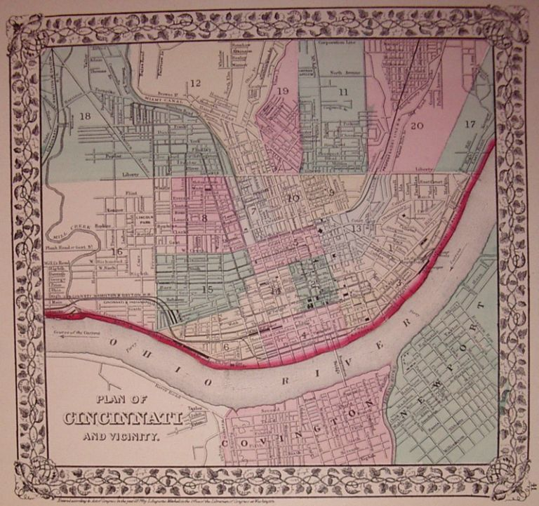 Plan of Cincinnati and Vicinity. Samuel Augustus Jr MITCHELL.
