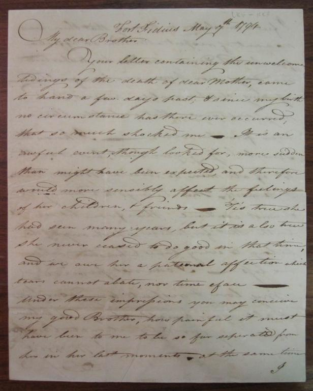 Autographed Letter Signed. Staats MORRIS, 1765 - 1826.