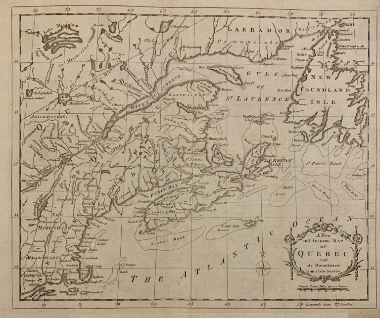 A New and Accurate Map of Quebec and its Boundaries: from a late Survey. Isaac Taylor HINTON, Simpkin, Marshall.
