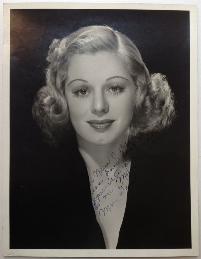 Inscribed Photograph. Mary DEES, 1911 - 2004.