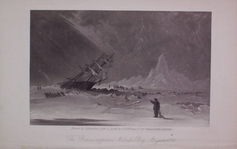 "The ""Rescue"" nipped in Melville Bay, August 1850. John SARTAIN."