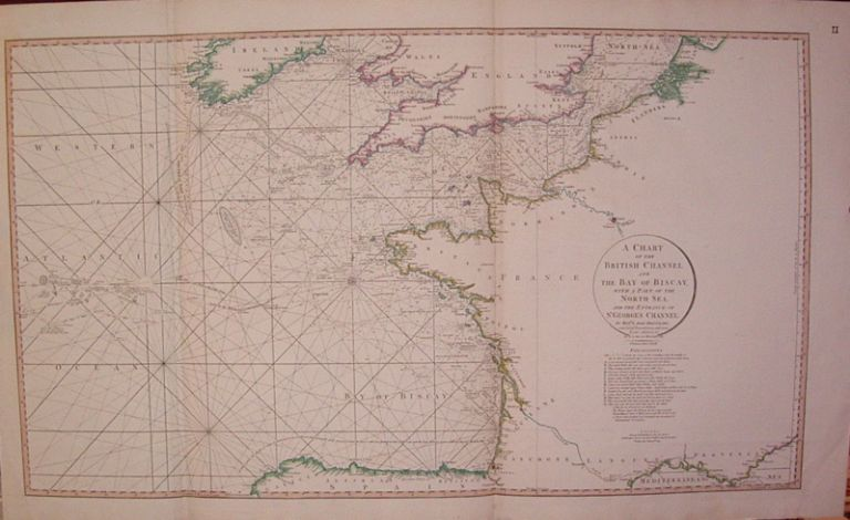 A Chart of the British Channel and the Bay of Biscay, with a Part of the North Sea, and the Entrance of St. George's Channel. Louis Stanislas d'Arcy DELAROCHETTE.