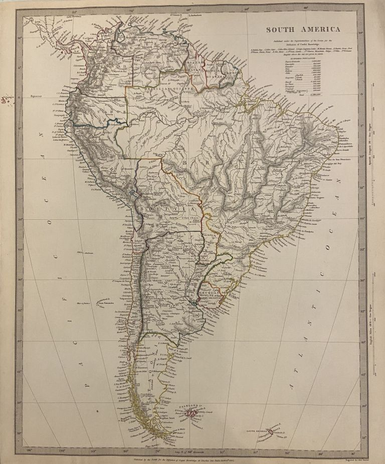 South America. SDUK, Society for the Diffusion of Useful Knowledge.