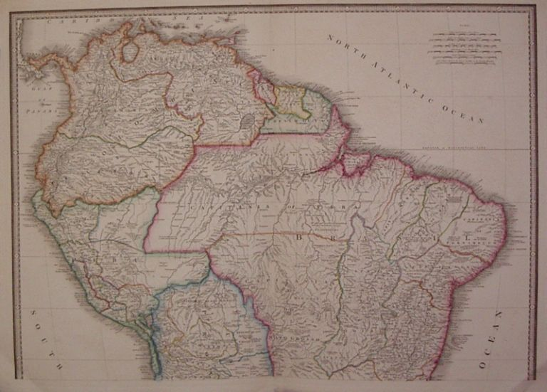 Colombia Prima or South America drawn from the Large Map in Eight Sheets. Louis Stanislas d'Arcy DELAROCHETTE.