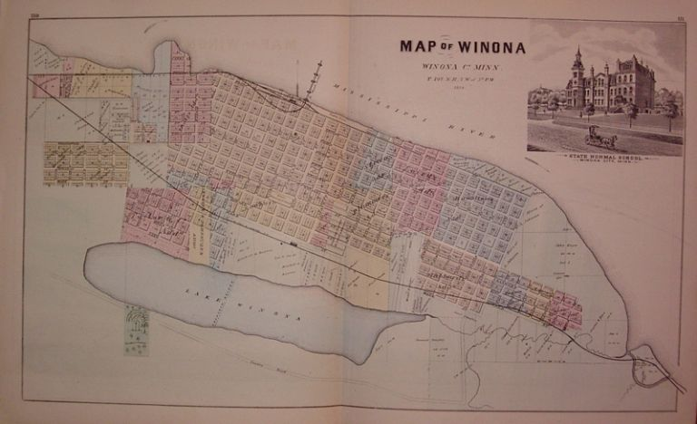 Map of Winona Winona Co. Minn. A. T. ANDREAS.