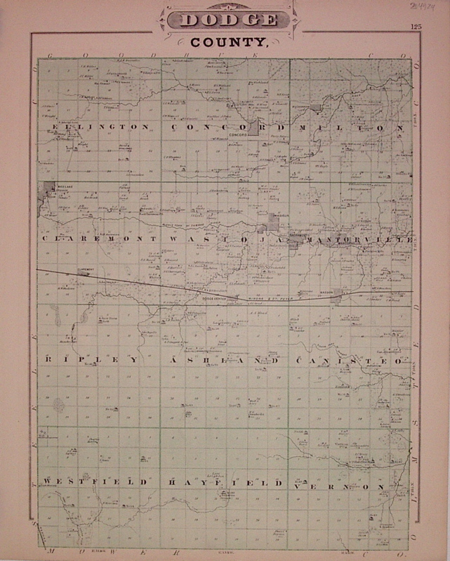 Dodge County, Map of Steele County. A. T. ANDREAS.