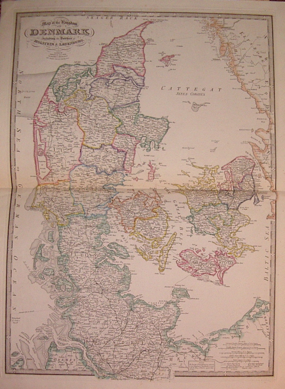 Map of the Kingdom of Denmark including the Dutchies of Holstein & Lauenburg. James WYLD.
