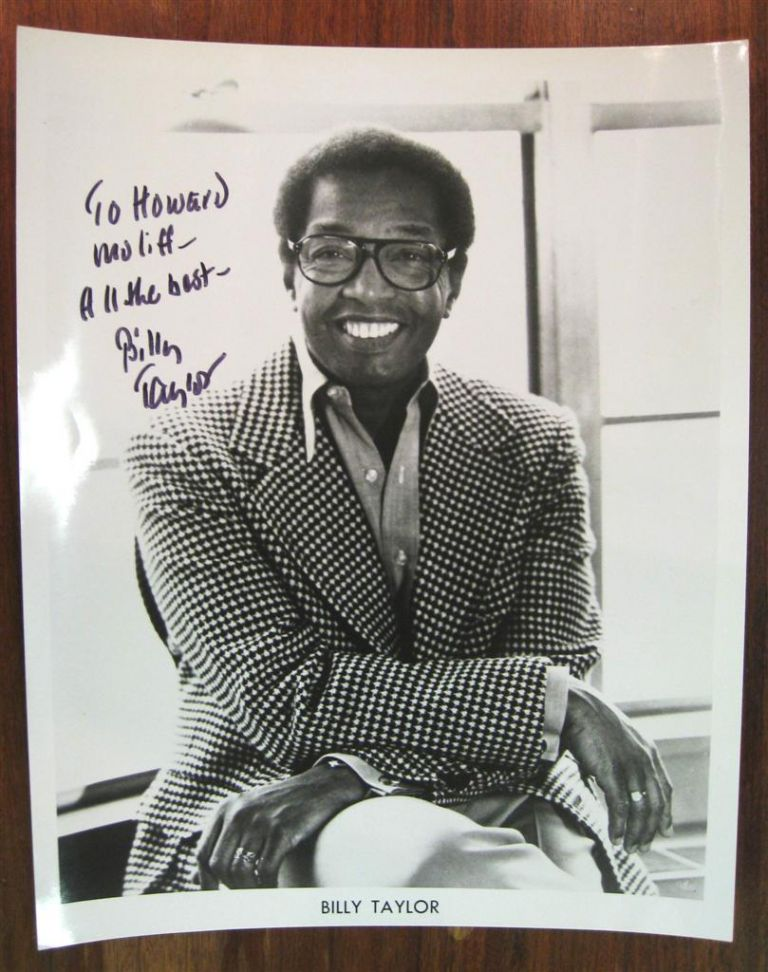 Signed Photograph. Billy TAYLOR, 1921 - 2010.