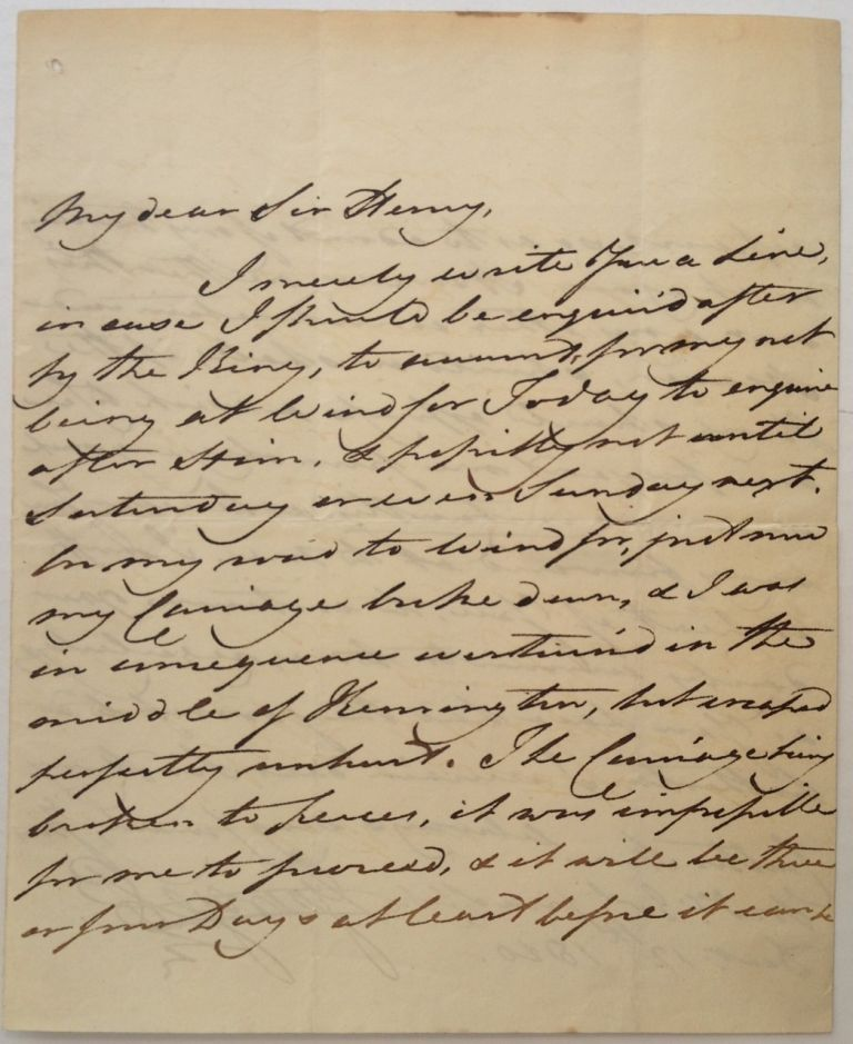 Autographed Letter Signed. King of England GEORGE IV, 1762 - 1830.