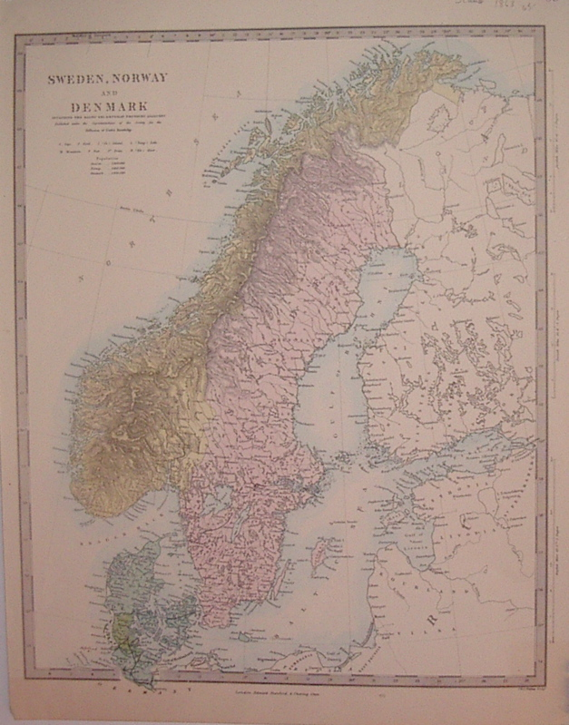 Sweden, Norway and Denmark includes the Batlic Sea & Russian Provinces Adjacent. SDUK, Society for the Diffusion of Useful Knowledge.