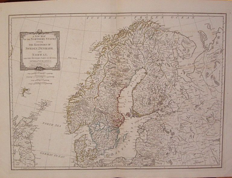 A New Map of the Northern States containing the Kingdoms of Sweden, Denmark and Norway; with the Western Parts of Russia, Livonia, Courland &ca. Thomas KITCHIN.