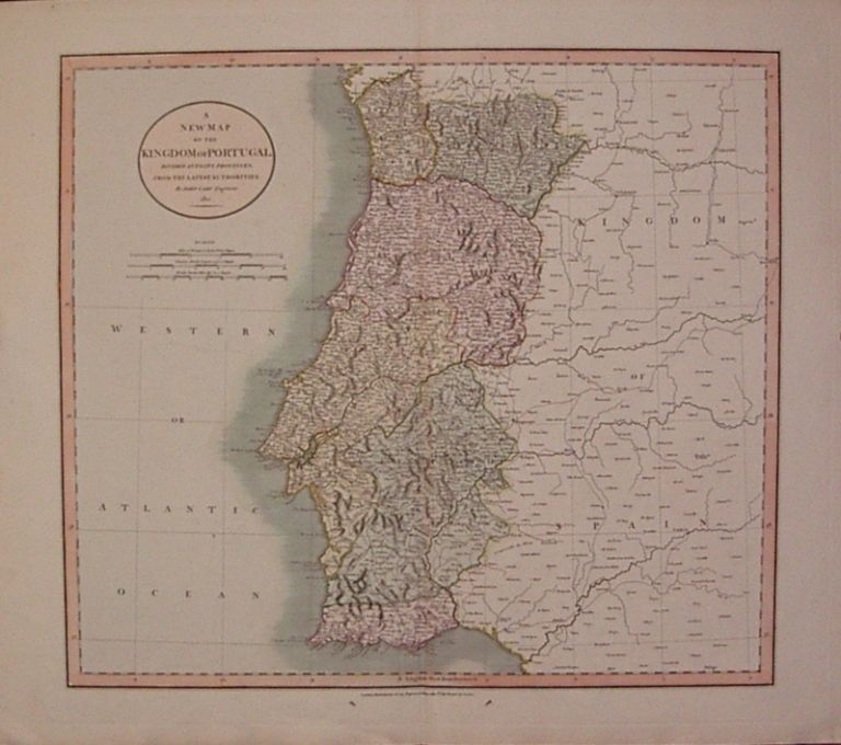 A New Map of the Kingdom of Portugal Divided into its Provinces. John CARY.
