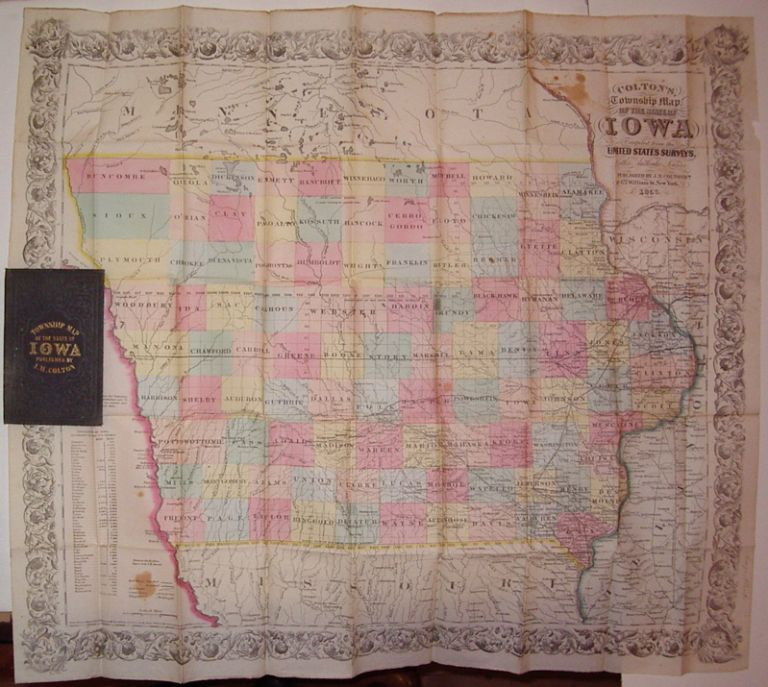 Colton's, Township Map of the State of Iowa Compiled from the United States Surveys, & Other Authentic Surveys. J. H. COLTON.