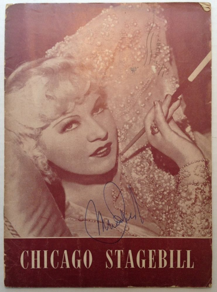 Signed Program. Mae WEST, 1893 - 1980.
