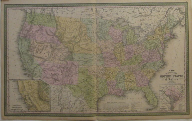 A New Map of the United States of America. Samuel Augustus Sr MITCHELL.