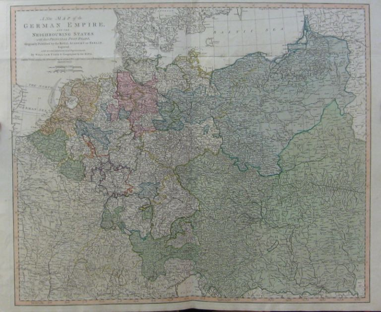 A New Map of the German Empire, and the Neighboring States with their Principal Post Roads. William FADEN.