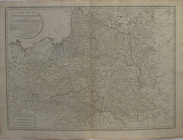 A New Map of the Kingdom of Poland with Its Dismembered Provinces. Thomas KITCHIN.